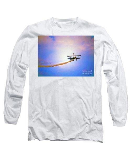 Bi-plane And Wing Walker Long Sleeve T-Shirt