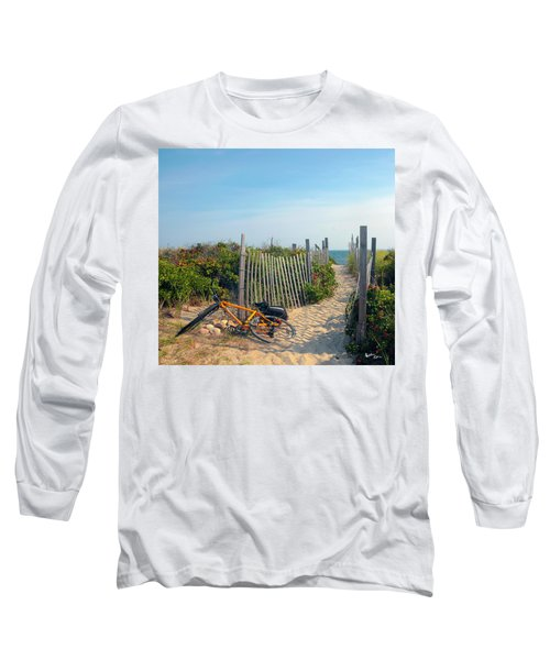 Long Sleeve T-Shirt featuring the photograph Bicycle Rest by Madeline Ellis