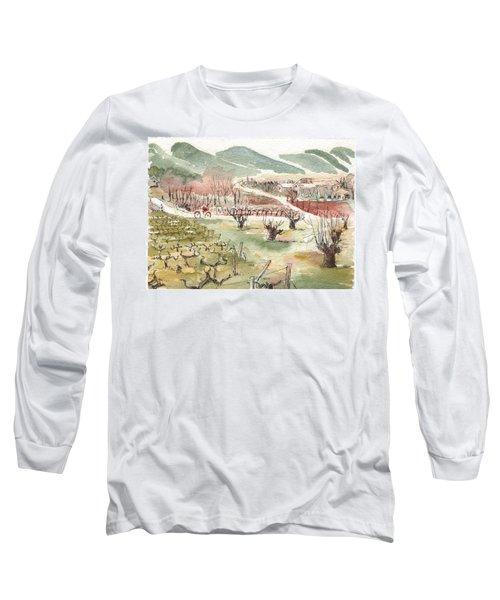 Bicycling Through Vineyards Long Sleeve T-Shirt