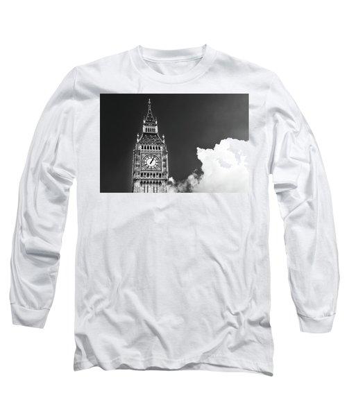 Big Ben Tower London Bw Long Sleeve T-Shirt