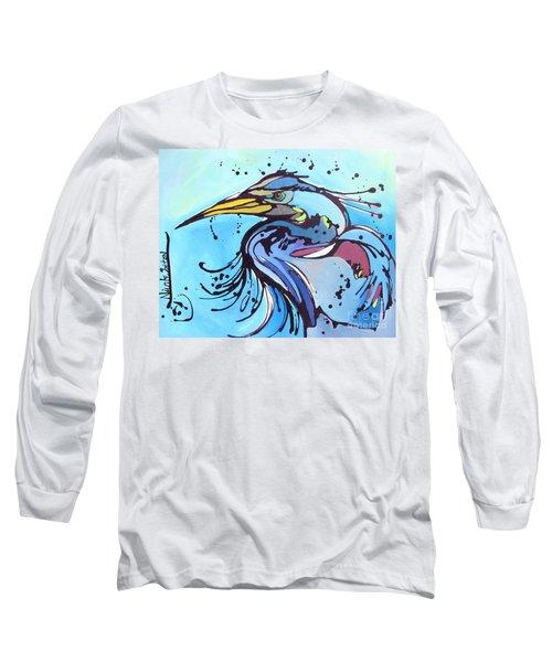 Big Blue Long Sleeve T-Shirt by Nicole Gaitan