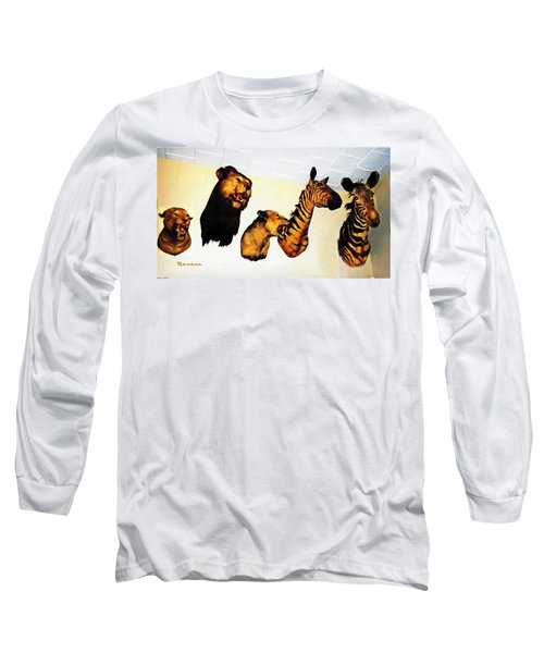 Big Game Africa - Zebras And Lions Long Sleeve T-Shirt