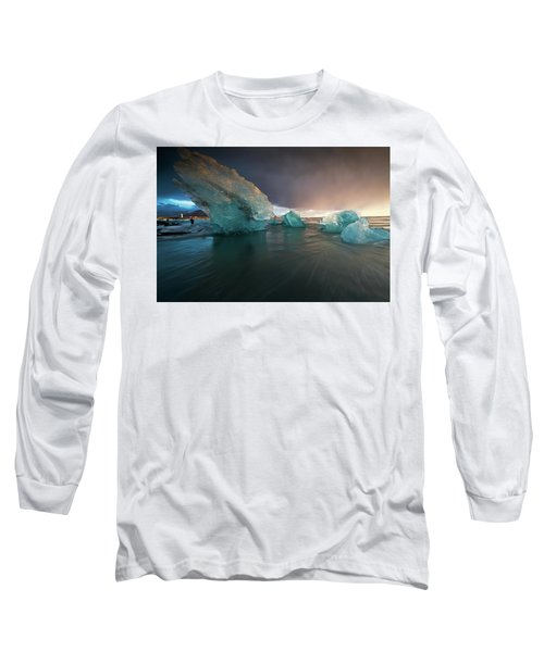 Big Ice Long Sleeve T-Shirt by Allen Biedrzycki