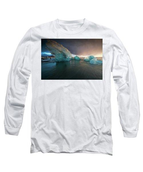 Long Sleeve T-Shirt featuring the photograph Big Ice by Allen Biedrzycki
