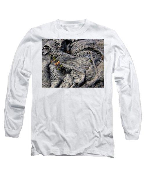 Big Island Lava Flow Long Sleeve T-Shirt by Amelia Racca