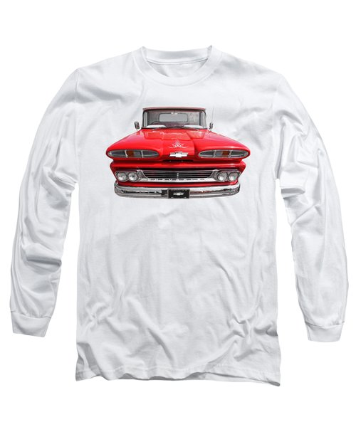 Long Sleeve T-Shirt featuring the photograph Big Red - 1960 Chevy by Gill Billington