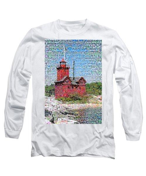 Big Red Photomosaic Long Sleeve T-Shirt