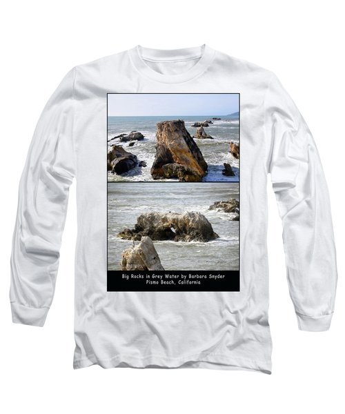 Long Sleeve T-Shirt featuring the photograph Big Rocks In Grey Water Duo by Barbara Snyder