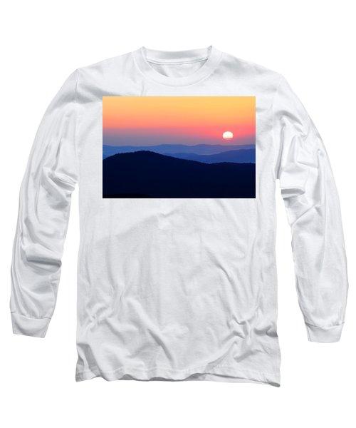 Big Sunrise Off Blue Ridge Parkway Long Sleeve T-Shirt