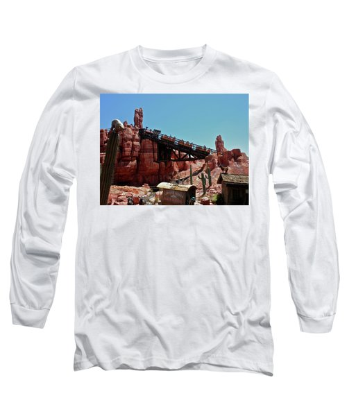 Big Thunder Mountain Walt Disney World Mp Long Sleeve T-Shirt by Thomas Woolworth