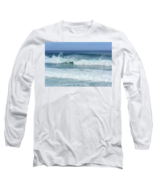 Long Sleeve T-Shirt featuring the photograph Big Waves by Marion McCristall