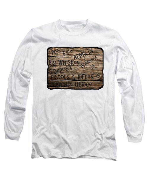 Big Whiskey Fire Arm Sign Long Sleeve T-Shirt