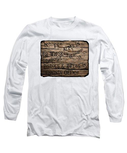 Big Whiskey Fire Arm Sign Long Sleeve T-Shirt