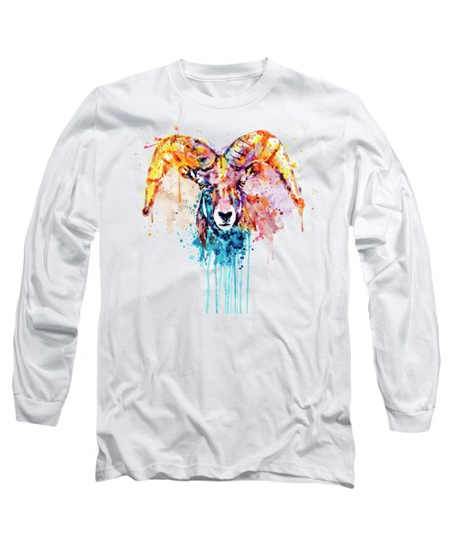 Bighorn Sheep Portrait Long Sleeve T-Shirt