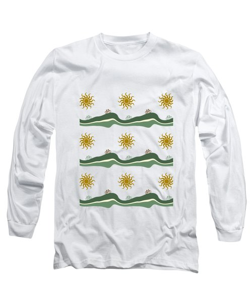 Bike Pattern Long Sleeve T-Shirt