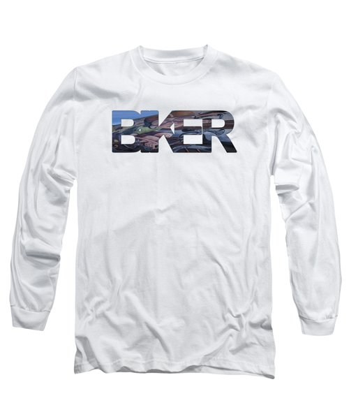 Biker Long Sleeve T-Shirt by Priscilla Burgers