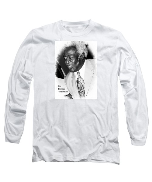 Bill Pinkney Of The Drifters Long Sleeve T-Shirt by Bob Pardue
