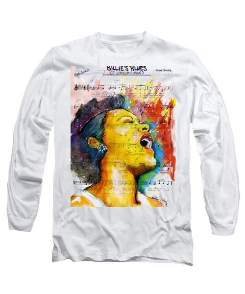 Billie's Blues Long Sleeve T-Shirt by Howard Barry