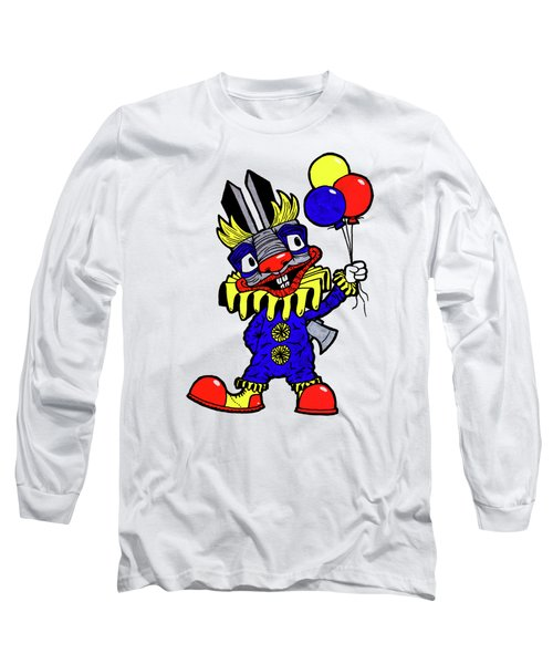 Binky The Bunny Clown Long Sleeve T-Shirt by Bizarre Bunny