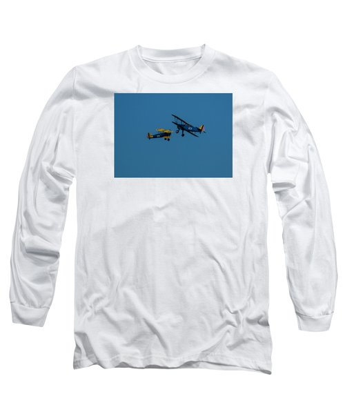 Biplanes Near Collision 5x7 Long Sleeve T-Shirt