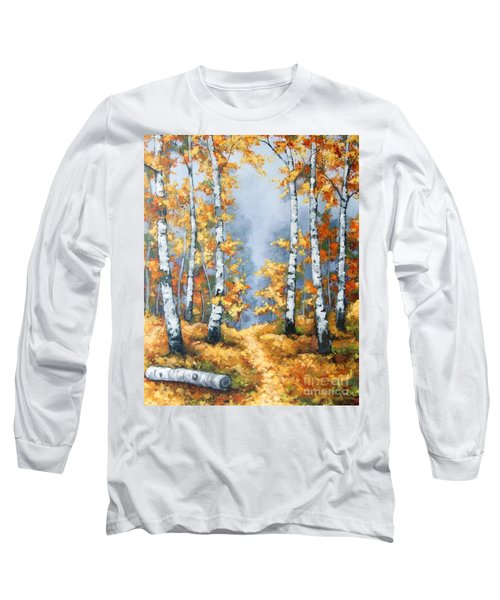 Birch Forest Path Long Sleeve T-Shirt