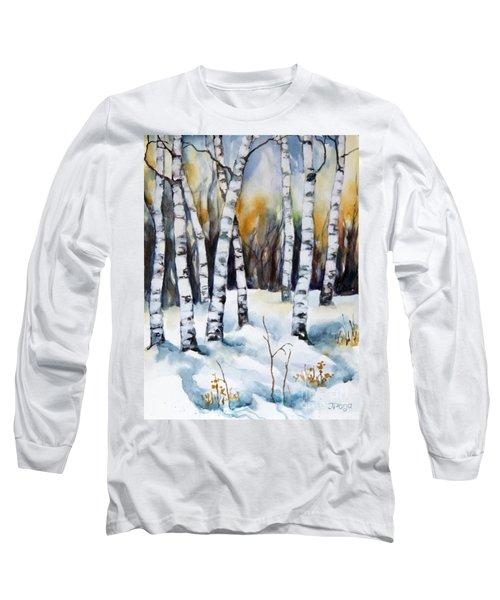 The White Of Winter Birch Long Sleeve T-Shirt