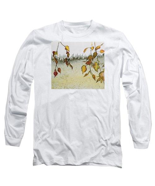 Birch In Autumn Long Sleeve T-Shirt by Carolyn Doe
