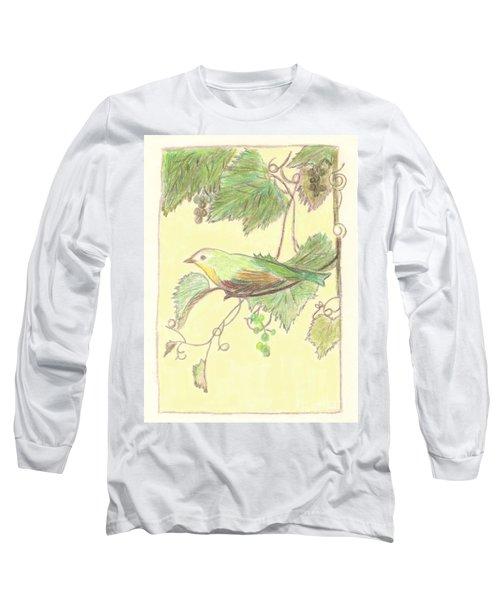 Bird On A Branch Long Sleeve T-Shirt
