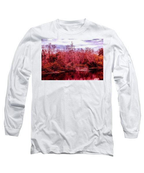 Long Sleeve T-Shirt featuring the photograph Bird Out On A Limb 2 by Madeline Ellis