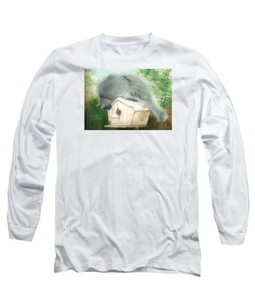 Long Sleeve T-Shirt featuring the painting Birdie In The Hole by Denise Fulmer