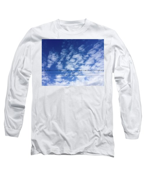 Birds On Wire Long Sleeve T-Shirt