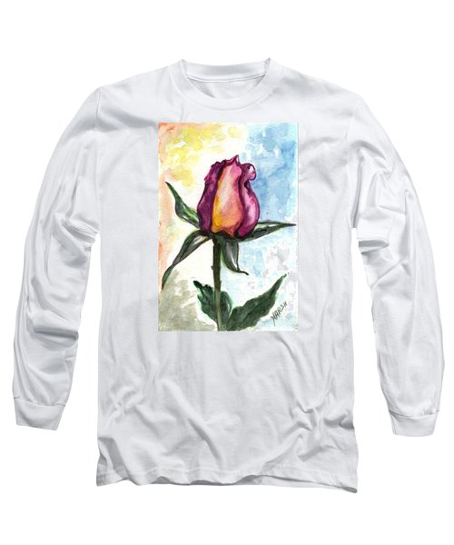 Long Sleeve T-Shirt featuring the painting Birth Of A Life by Harsh Malik