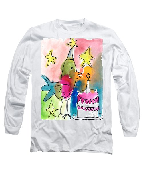 Birthday Bird Long Sleeve T-Shirt