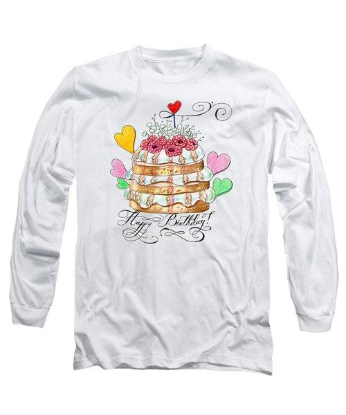 Birthday Cake Long Sleeve T-Shirt