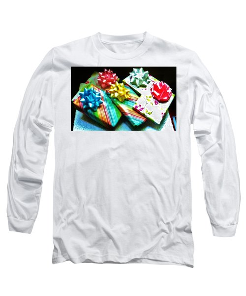 Birthday Presents Long Sleeve T-Shirt by Denise Fulmer