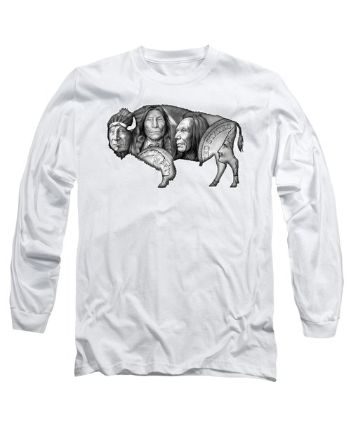 Bison Indian Montage 2 Long Sleeve T-Shirt