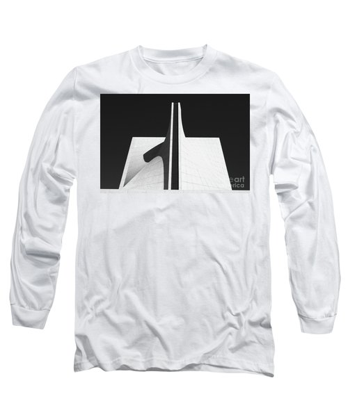 Long Sleeve T-Shirt featuring the photograph Black And White Building by MGL Meiklejohn Graphics Licensing