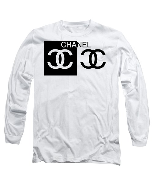 Black And White Chanel 2 Long Sleeve T-Shirt