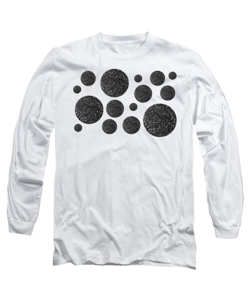 Long Sleeve T-Shirt featuring the mixed media Black And White Circles 2 by Rachel Hannah