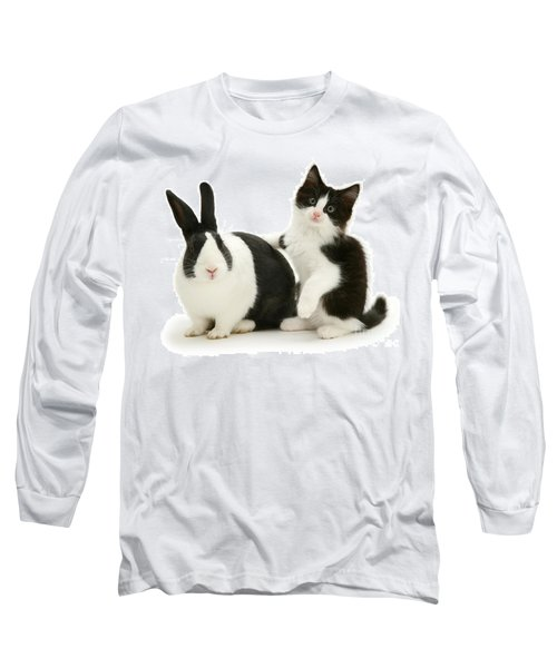 Black And White Double Act Long Sleeve T-Shirt