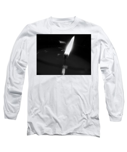Black And White Flame Long Sleeve T-Shirt