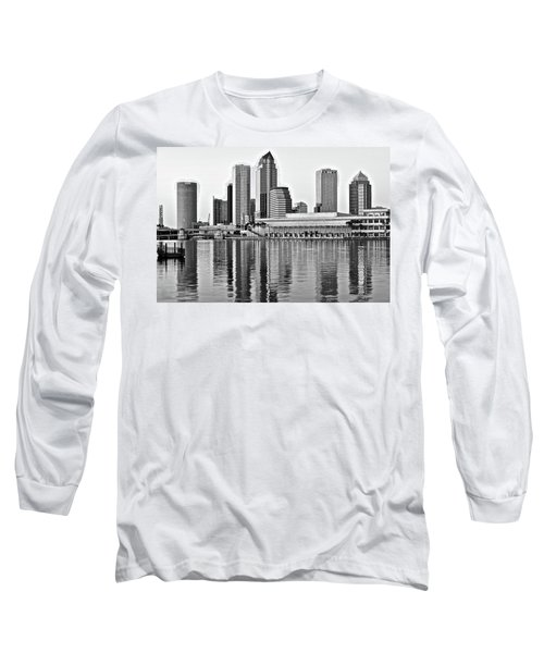 Black And White In The Heart Of Tampa Bay Long Sleeve T-Shirt