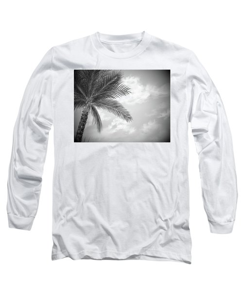 Long Sleeve T-Shirt featuring the digital art Black And White Palm by Darren Cannell
