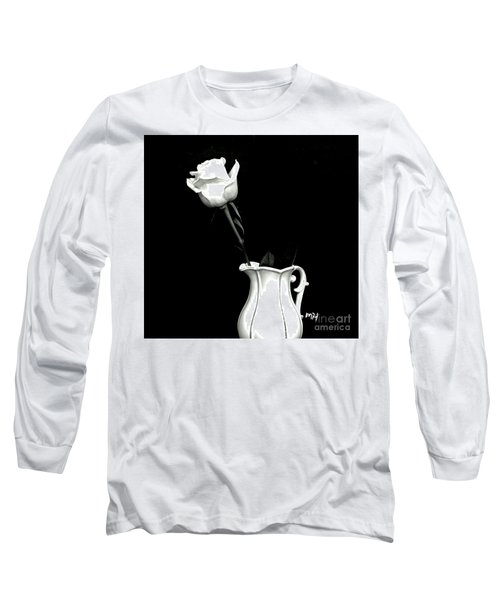 Long Sleeve T-Shirt featuring the photograph Black And White Rose Three by Marsha Heiken