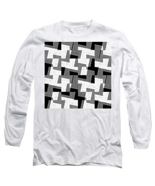 Black And White Study Long Sleeve T-Shirt