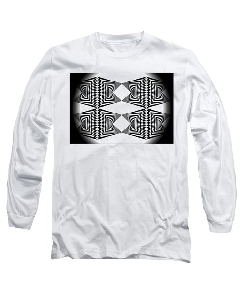 Black And White T-shirt Long Sleeve T-Shirt by Isam Awad