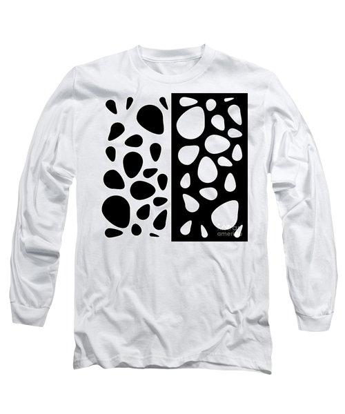 Black And White Teardrops Long Sleeve T-Shirt