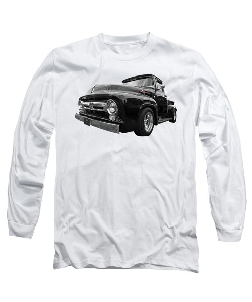 Long Sleeve T-Shirt featuring the photograph Black Beauty - 1956 Ford F100 by Gill Billington