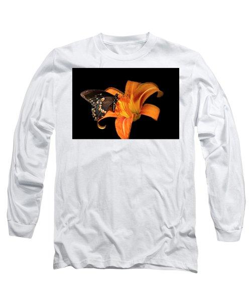 Black Beauty Butterfly Long Sleeve T-Shirt