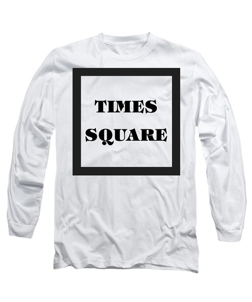 Black Border Times Square Long Sleeve T-Shirt